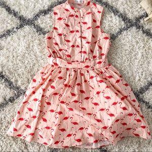 Flamingo Print Dress